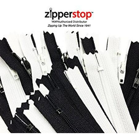 ZipperStop Wholesale - 50pcs~ Black 25 & White 25 YKK® #3 Nylon Coil Zippers Tailor Sewing Tools Garment Accessories 9 Inch ZipperStop Wholesale - 50pcs~ Black 25 & White 25 YKK #3 Nylon Coil Zippers Tailor Sewing Tools Garment Accessories 9 Inch