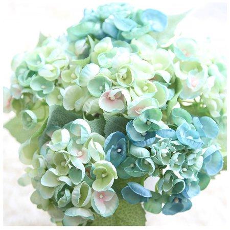 Artificial Silk Fake Flowers Roses Floral Wedding Bouquet Bridal Decor (Blue Floral Bouquet)