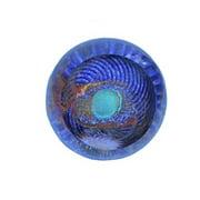 glass eye studio paperweight, celestial series, god's eye, 517f