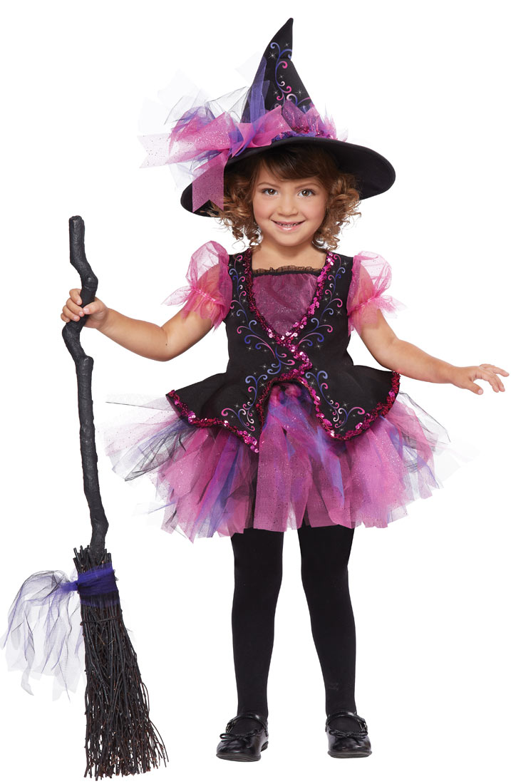Toddler and Girls Pink Darling Little Witch Costume - Walmart.com