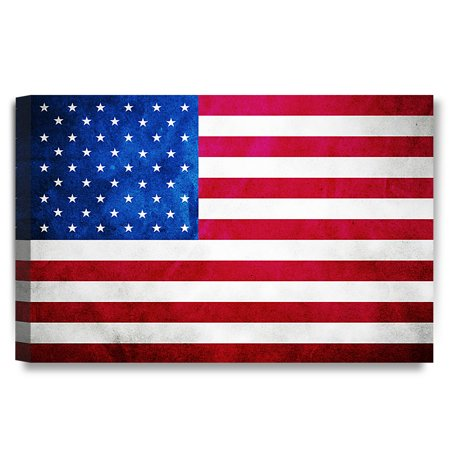 Decorarts American Flag Giclee Canvas Prints For Home