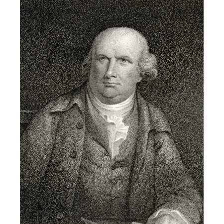 Robert Morris 1734 To 1806 American Merchant Statesman And Founding Father A Signatory Of Declaration Of Independence 19Th Century Engraving By JB Longacre From A Painting Stretched Canvas - Ken Wels