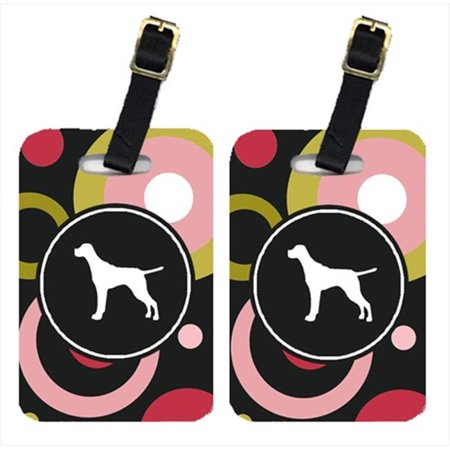 Pair of 2 Pointer Luggage Tags Pointer Luggage Tag