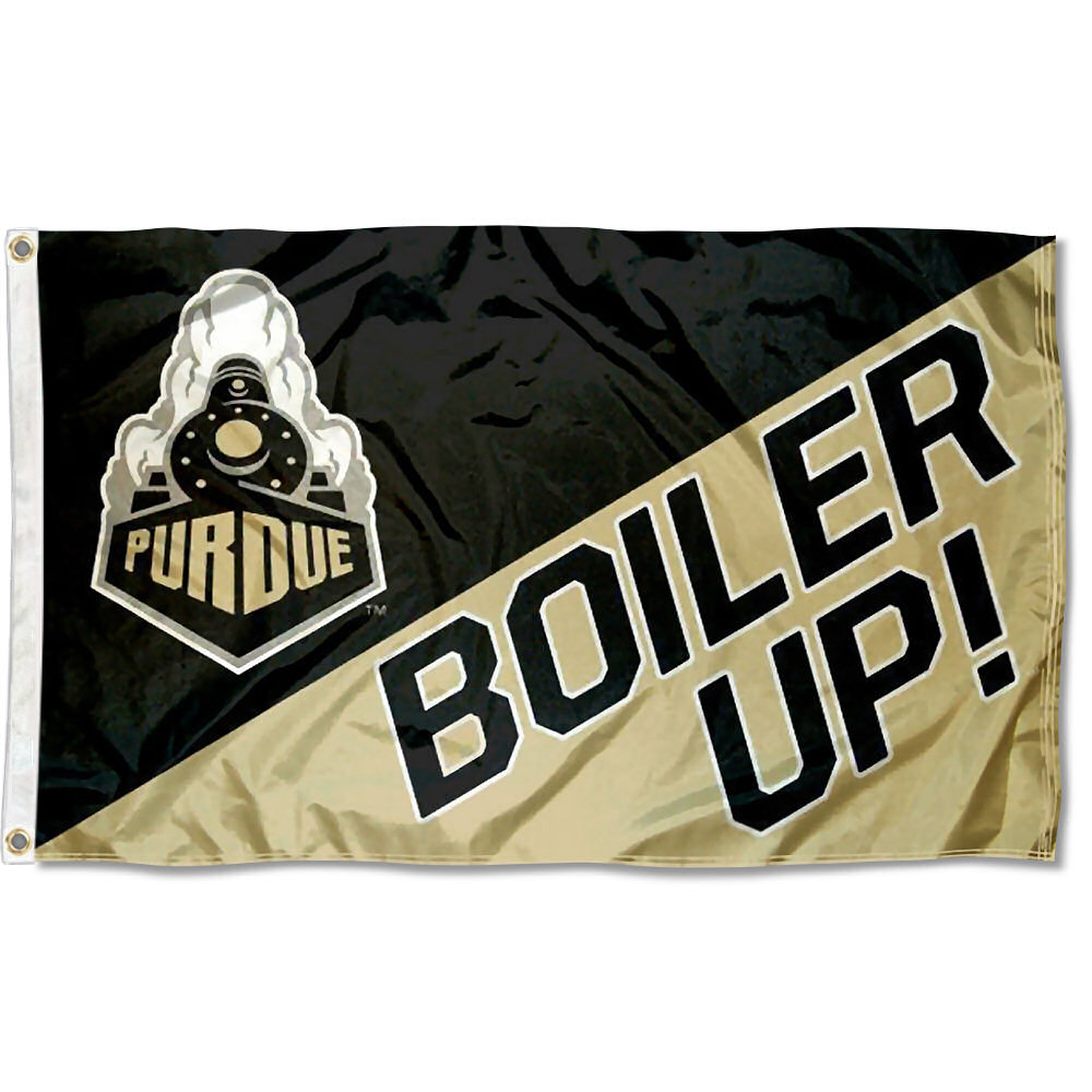 Purdue Boilermakers Boiler Up 3' x 5' Pole Flag