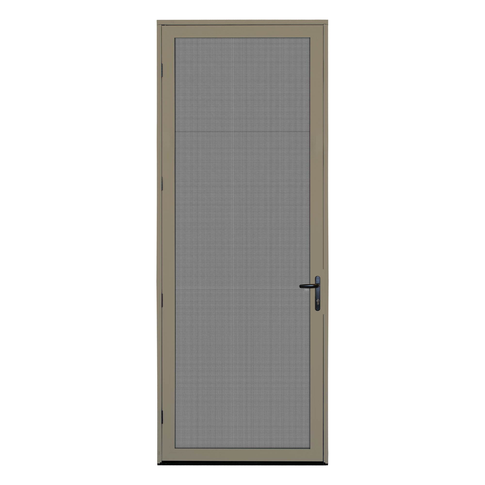 36 in  x 96 in  White Surface Mount Left-hand Ultimate Security Screen Door  with Meshtec Screen