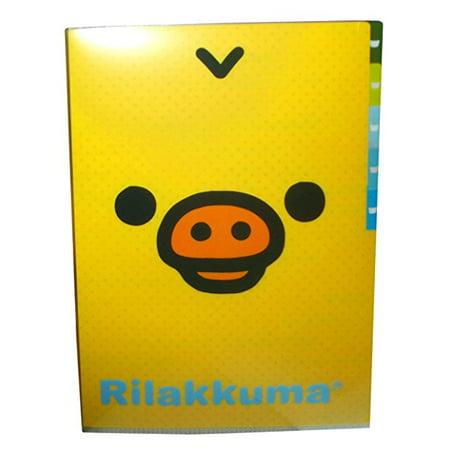 Rilakkuma Kiirroitori Portfolio Folders for Organization-back to School Supplies (Rilakkuma School Supplies)