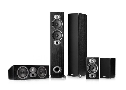 Polk Audio RTiA5 5.0 Home Theater Speaker Package (Black) by Polk Audio