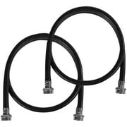 Certified Appliance Accessories WM60BR2PK 2 Pk Black EPDM Washing Machine Hoses, 5ft