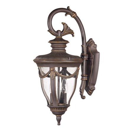 Satco Philippe Belgium Bronze Transitional Outdoor w/ 2 Light 60W