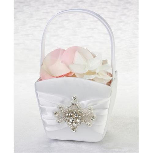 Lillian Rose Jeweled Motif Flower Girl Basket