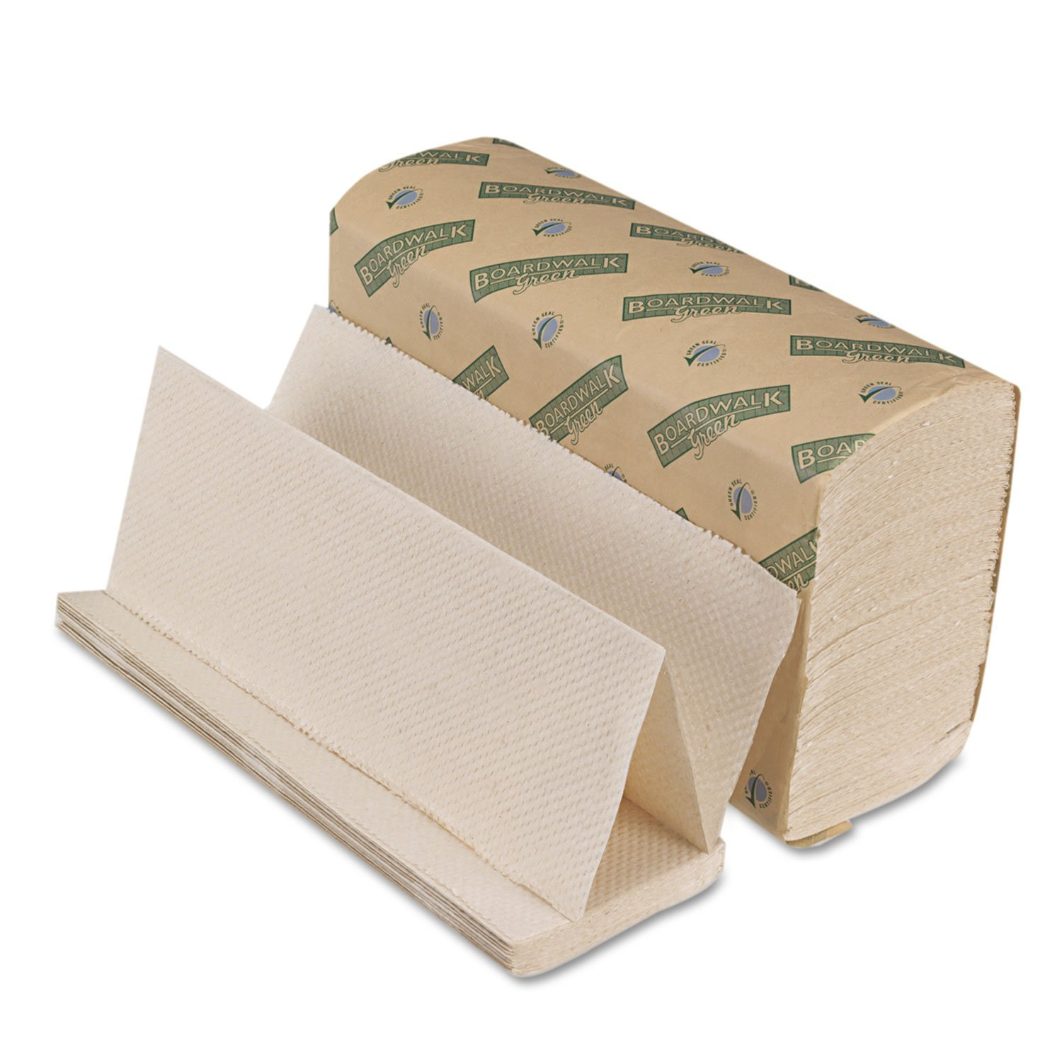 Green Folded Paper Towels, Multi-Fold, Natural We, 9 1/8W X 9 1/2L, 4000/Carton (10Green)..., By Boardwalk Ship from US