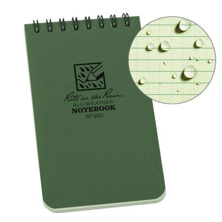 Weatherproof Top-Spiral Notebook, 3