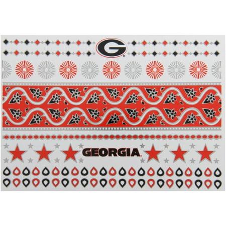 Georgia Bulldogs Metallic Fashion Tattoos - No Size - Georgia Bulldog Tattoos