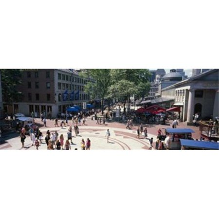Tourists in a market  Faneuil Hall Marketplace  Quincy Market  Boston  Suffolk County  Massachusetts  USA Poster Print by  - 36 x (Faneuil Hall Location)