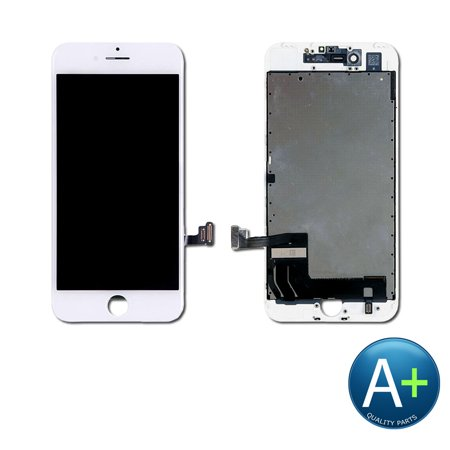 Touch Screen Digitizer and LCD for Apple iPhone 7 Plus White (A1661, A1784, A1785) ()