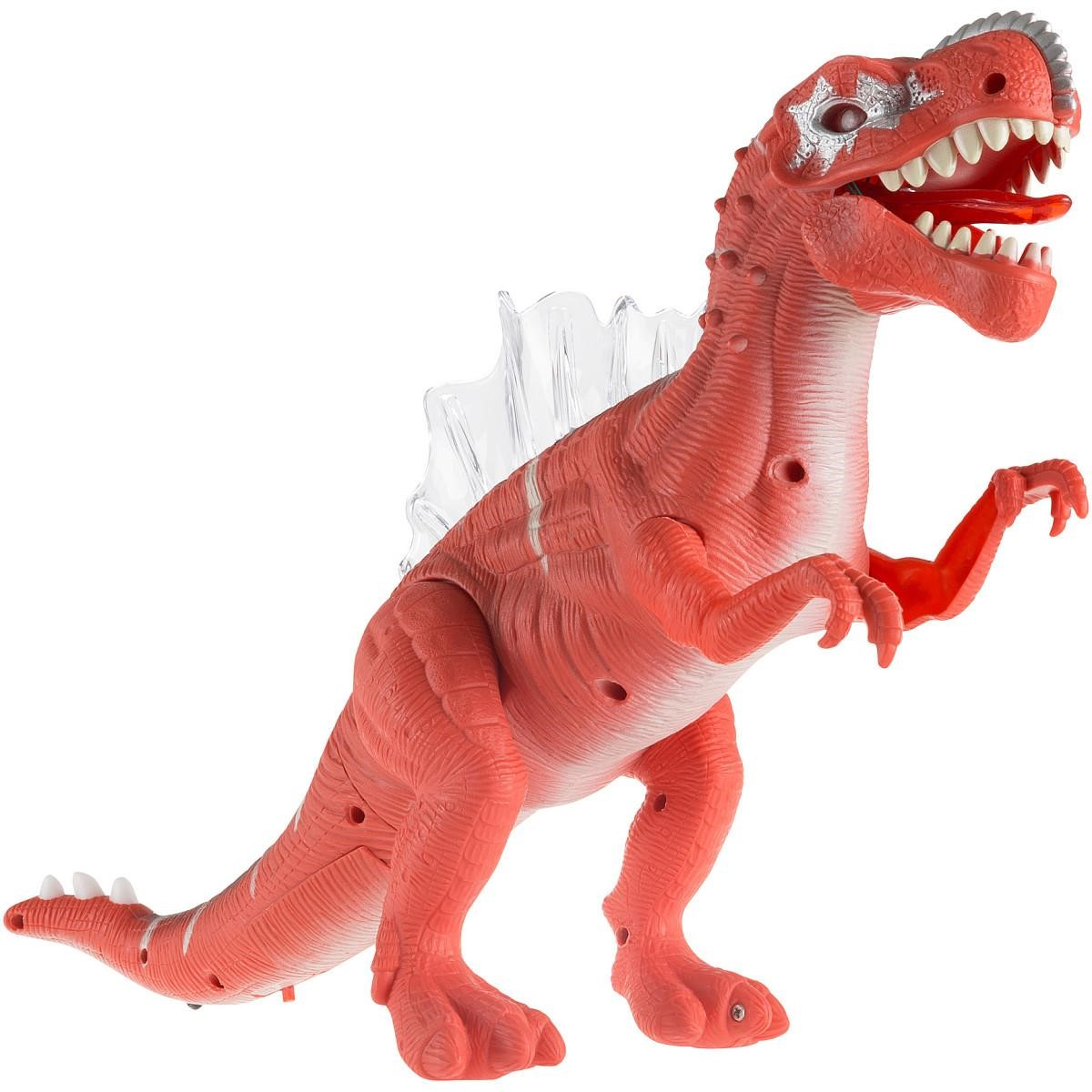 Dinosaur Action Figure Moves Lights Sound Spinosaurus T Rex Battery Operated