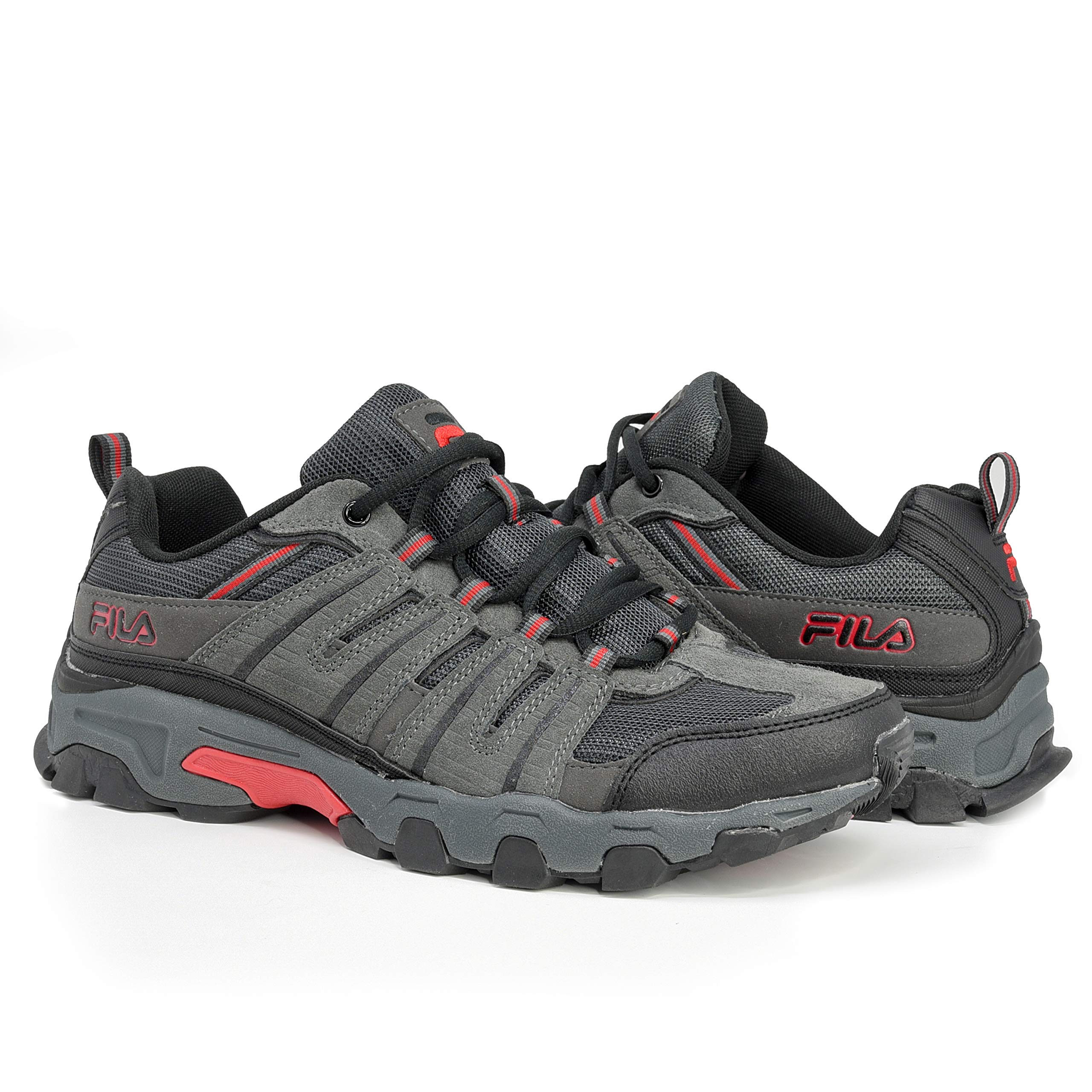 Fila Fila Men's Westmount Trail Running Sneaker EVA Comfort Footbed Shoe, GreyBlackRed, Size 11.5