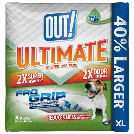 Out  Ultimate Pro Grip Xl Dog Pads  21 X 30  30 Pads