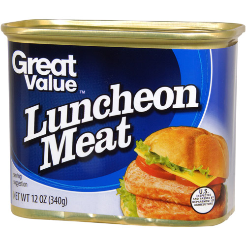 Great Value:  Luncheon Meat, 12 Oz