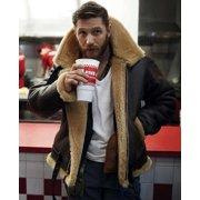 Men's Winter Shearling Jacket for Men Fur Coat Thick Leather Jacket