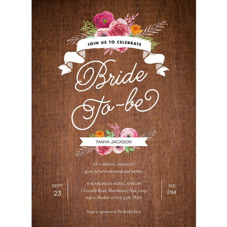 40th Wedding Anniversary Invitations - Rustic Shower Standard Bridal Shower Invitation