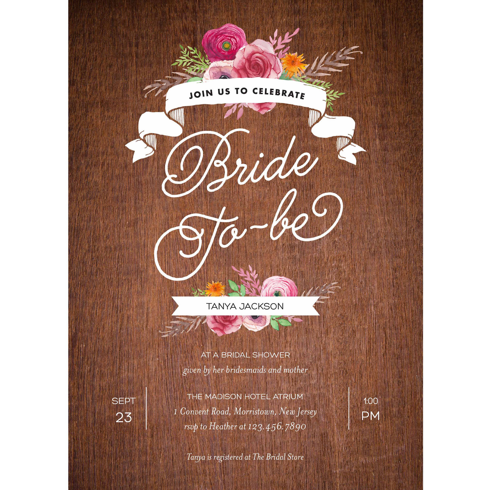 Rustic Shower Standard Bridal Shower Invitation