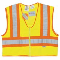 Luminator Class II Flame Resistant Vests, Large, Fluorescent Lime, Sold As 1 Each