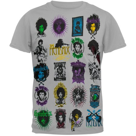 Jimi Hendrix   Poster Art Logo T Shirt