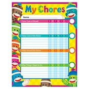 Trend Enterprises T-73145-3 Sock Monkey Chore Chart - 3 Each
