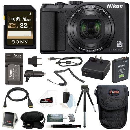 Nikon COOLPIX A900 Digital Camera (Black) + 32GB Memory Card + Accessory Bundle