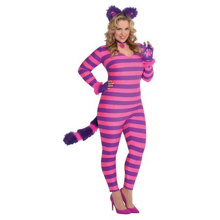 Lady Cheshire Cat Adult Costume - Plus Size](Adult Cheshire Cat Costume)