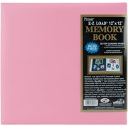"Pastel Leatherette Post Bound Album 12""X12""-Light Pink"