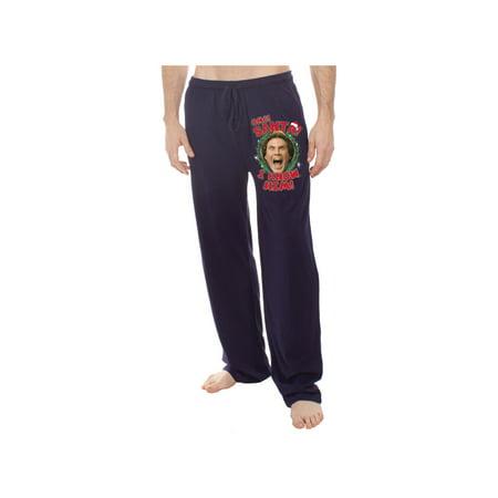 Underboss Elf Movie Mens/Unisex Lounge Pants - Black Holiday Pajama Bottoms (Elf Onesie For Men)