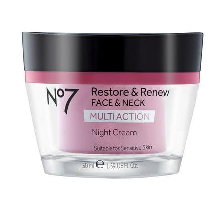 No7 Restore & Renew Face & Neck Multi Action Night Cream 1.69 fl oz