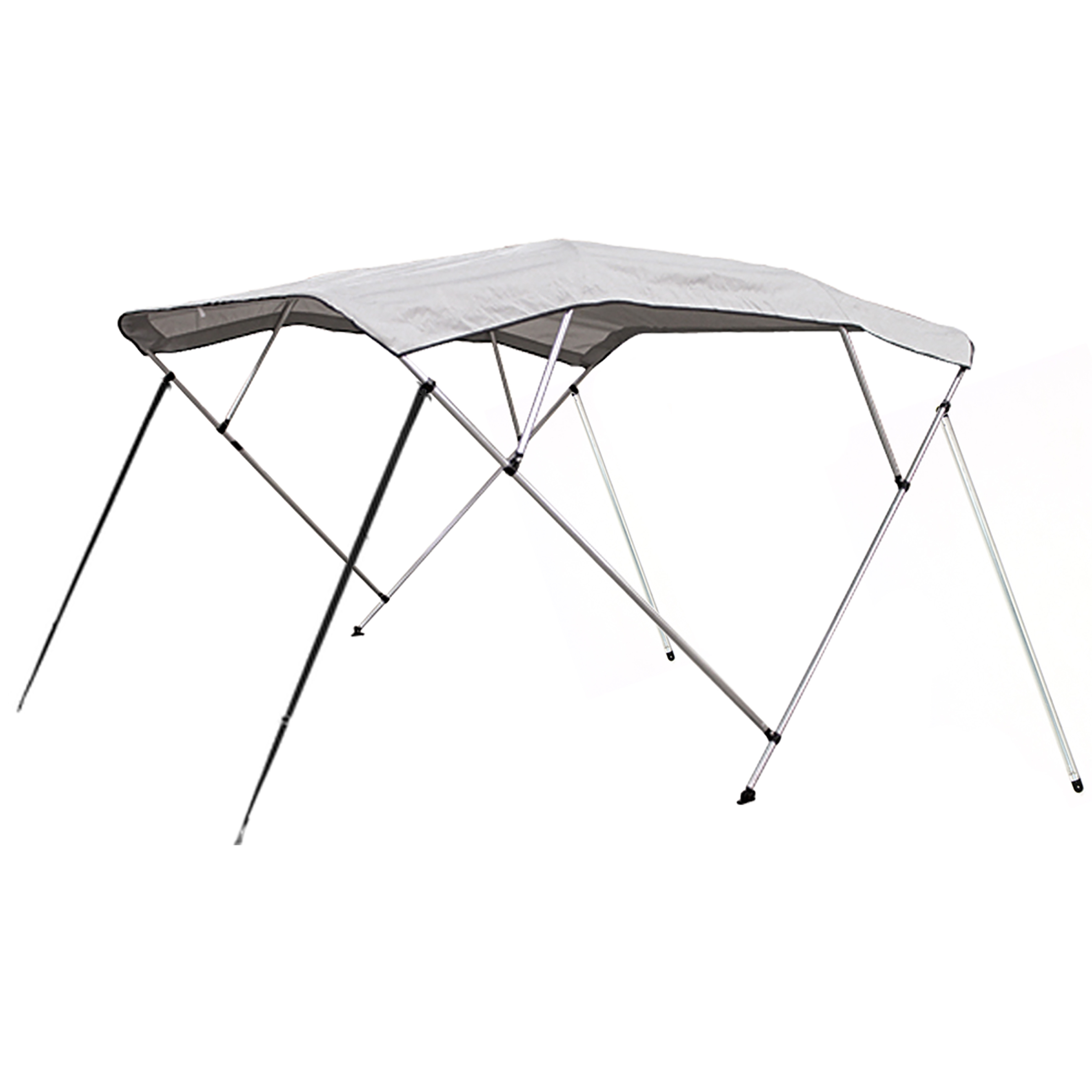 Best Choice Products 91x96in 4 Bow Bimini Waterproof Top Boat Cover- Gray
