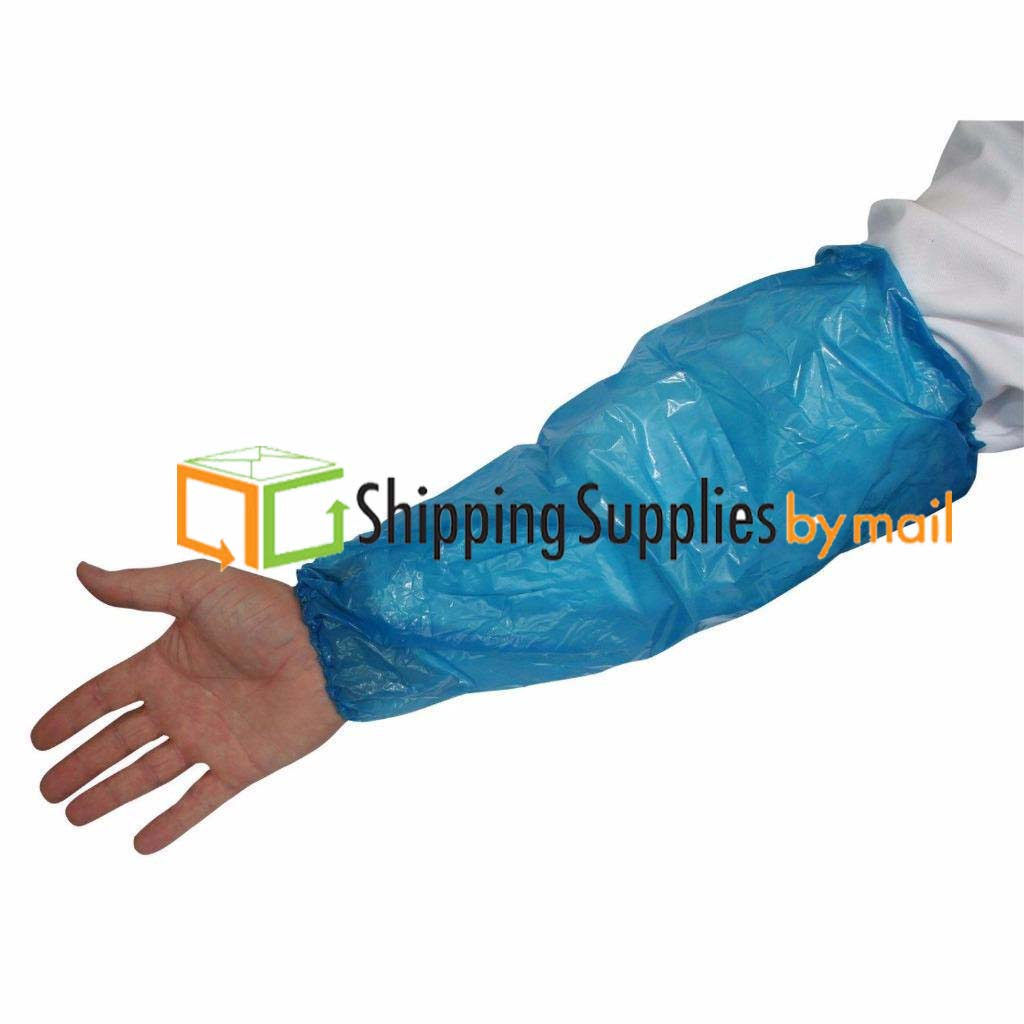 Shield Safety 18 In 2 Mil, Disposable Polyethylene oversleeves White, 10000 Pieces
