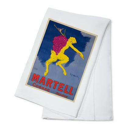 Martell Vsop Cognac - Martell Cognac Vintage Poster (artist: Cappiello, Leonetto) France c. 1905 (100% Cotton Kitchen Towel)