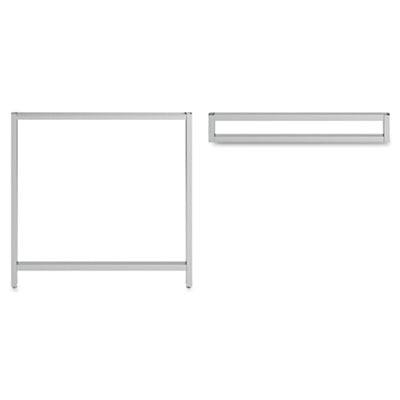 Leg Kit Rectangular Desk For 24   H Storage Momentum  Silver Bsh34oslegsv03