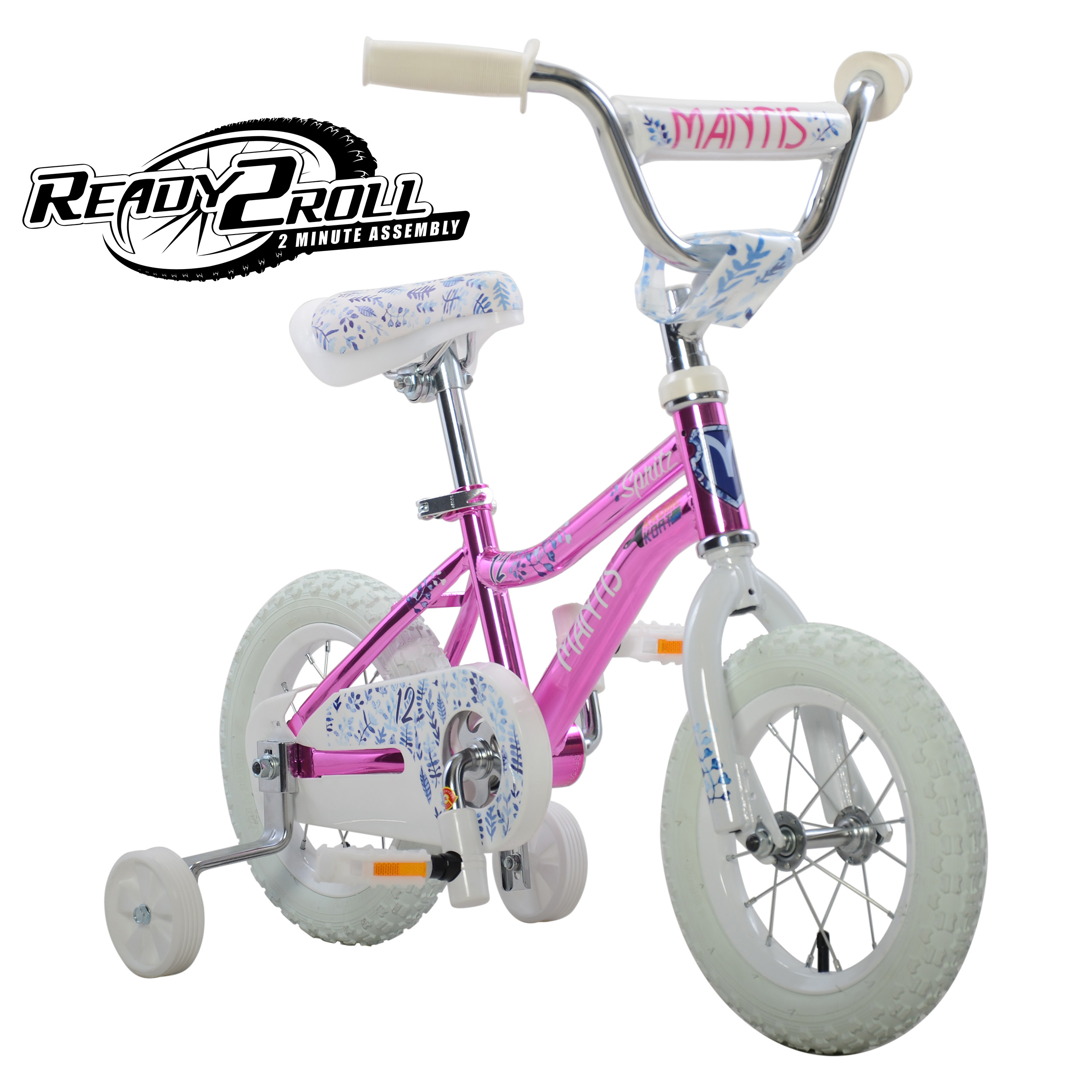 Spritz White Ready2Roll 16 inch Kids Bicycle with Holiday Bonus Gloves