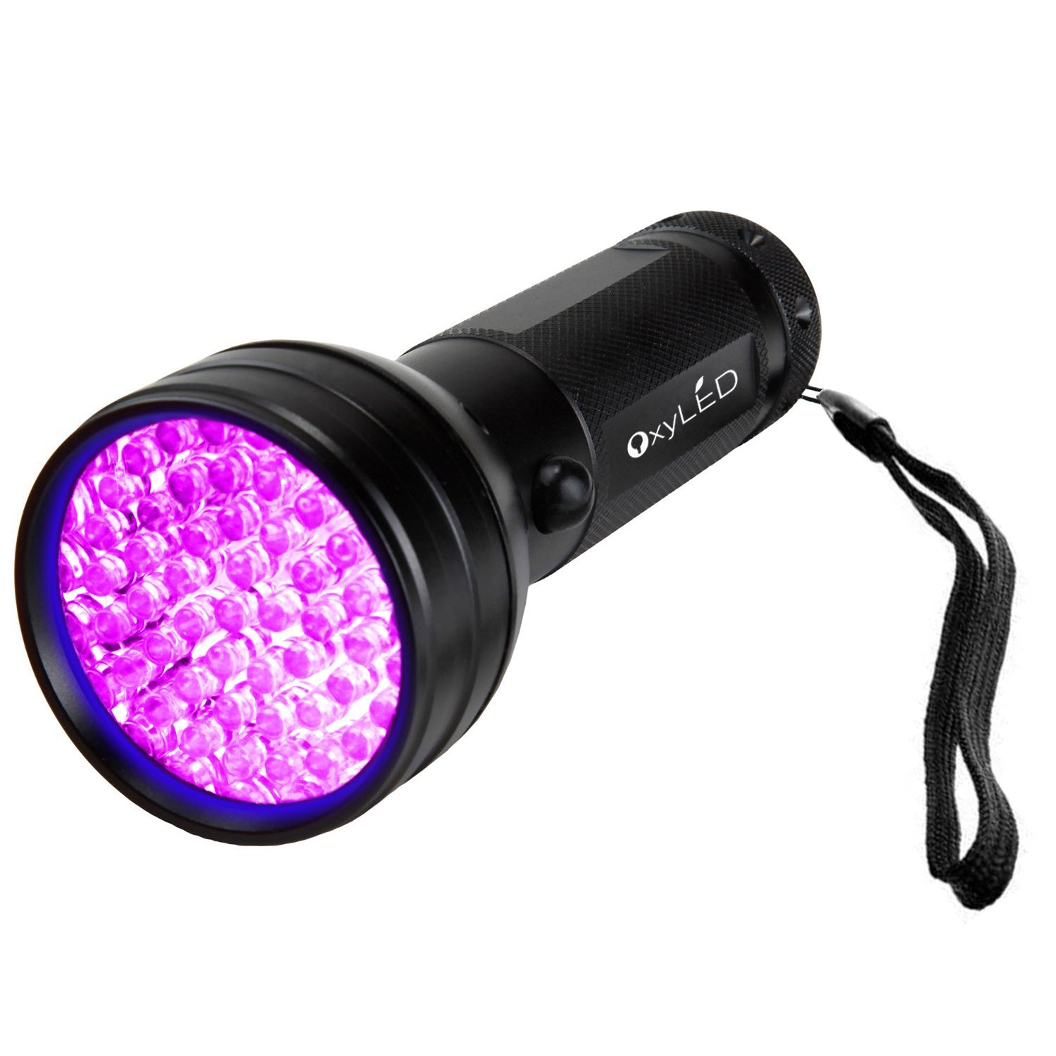 OxyLED UV Flashlight Black Light, 51 LED 395 nM Ultraviolet Blacklight Detector for Dog Urine, Pet Stains and Bed Bug Image 1 of 4