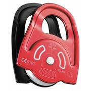 Prusik Twin Pulley, 8100 lbs, Red/Black PETZL