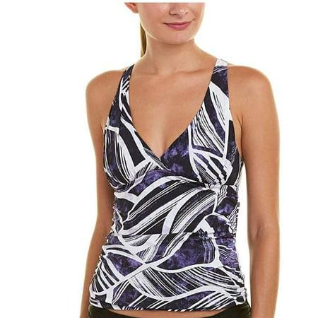 La Blanca Halter Tankini - La Blanca Womens Bali Hai Printed Halter Tankini Swim Top (Navy/White, 4)