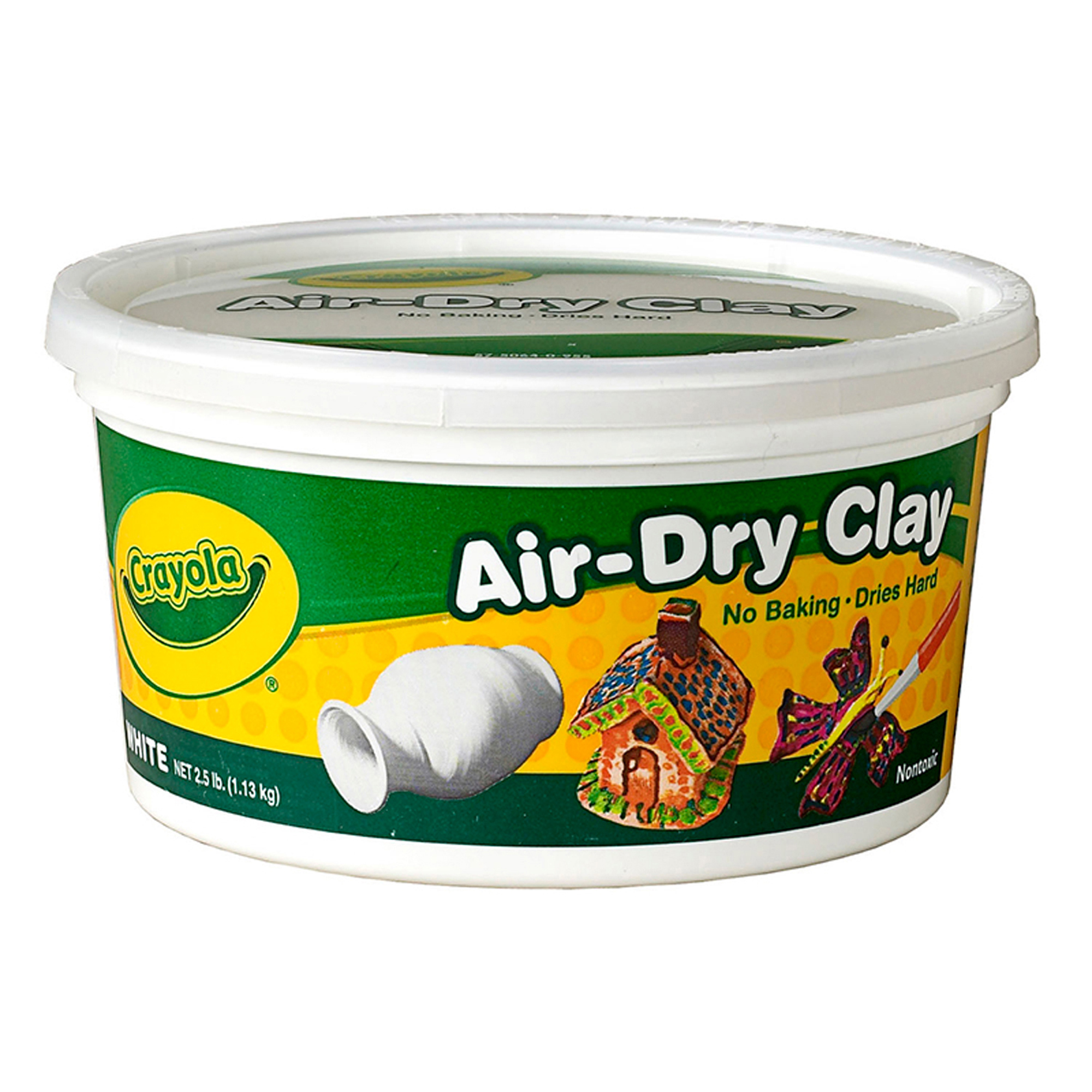 Crayola® Air-Dry Clay, White, 2.5 lb. Per Pack, 4 Packs