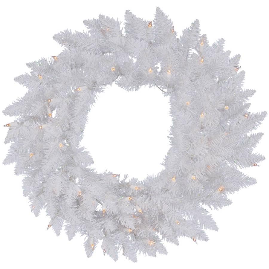 """Vickerman 48"""" Sparkle White Wreath 100LED White"""
