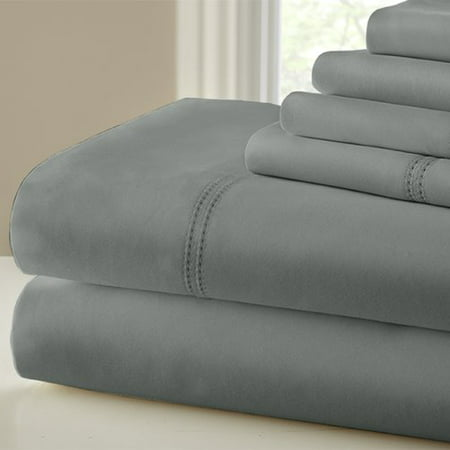 Beige Crackle Finish - 1000 Thread Count 6 Piece Cotton Blend Sheet Set