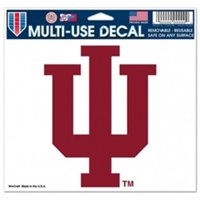Indiana Hoosiers Official NCAA 4 inch x 6 inch Car Window Cling Decal by WinCraft