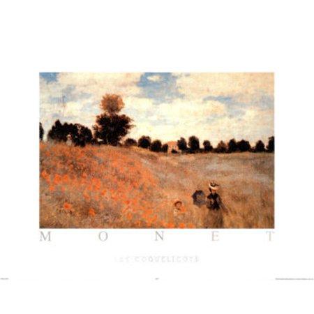 Les Coquelicots Poster By Claude Monet - 28x28 (Le Monet Halloween)