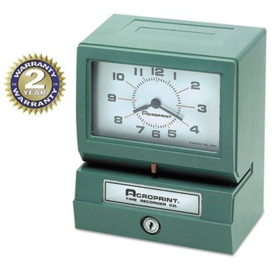 ACP012070413 Model 150 Analog Automatic Print Time Clock with Month Date 0-23 Hours Minutes by