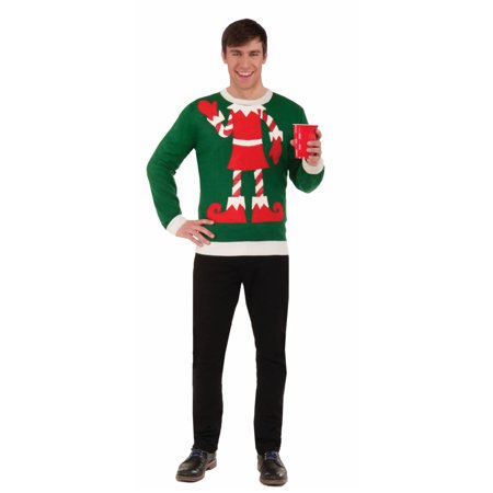 Adult mens elf yourself ugly christmas sweater festive holiday adult mens elf yourself ugly christmas sweater festive holiday costume solutioingenieria Choice Image