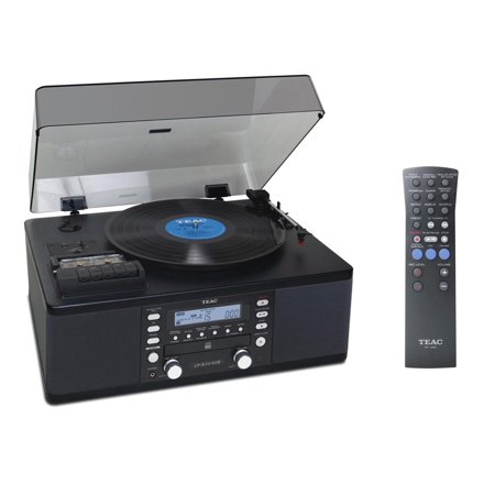 CD Recorder Cassette and Turntable BLACK